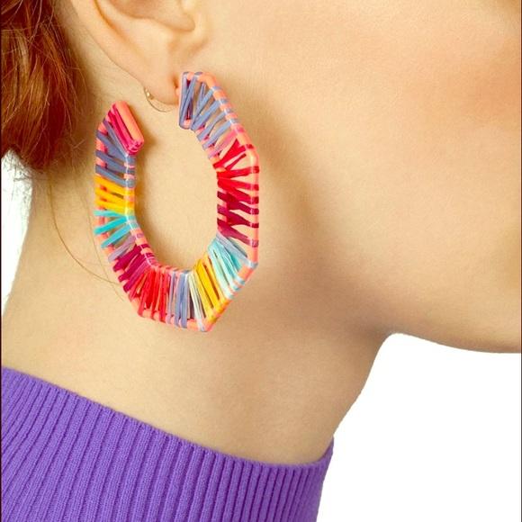 Geometric Threaded Multi color Earrings